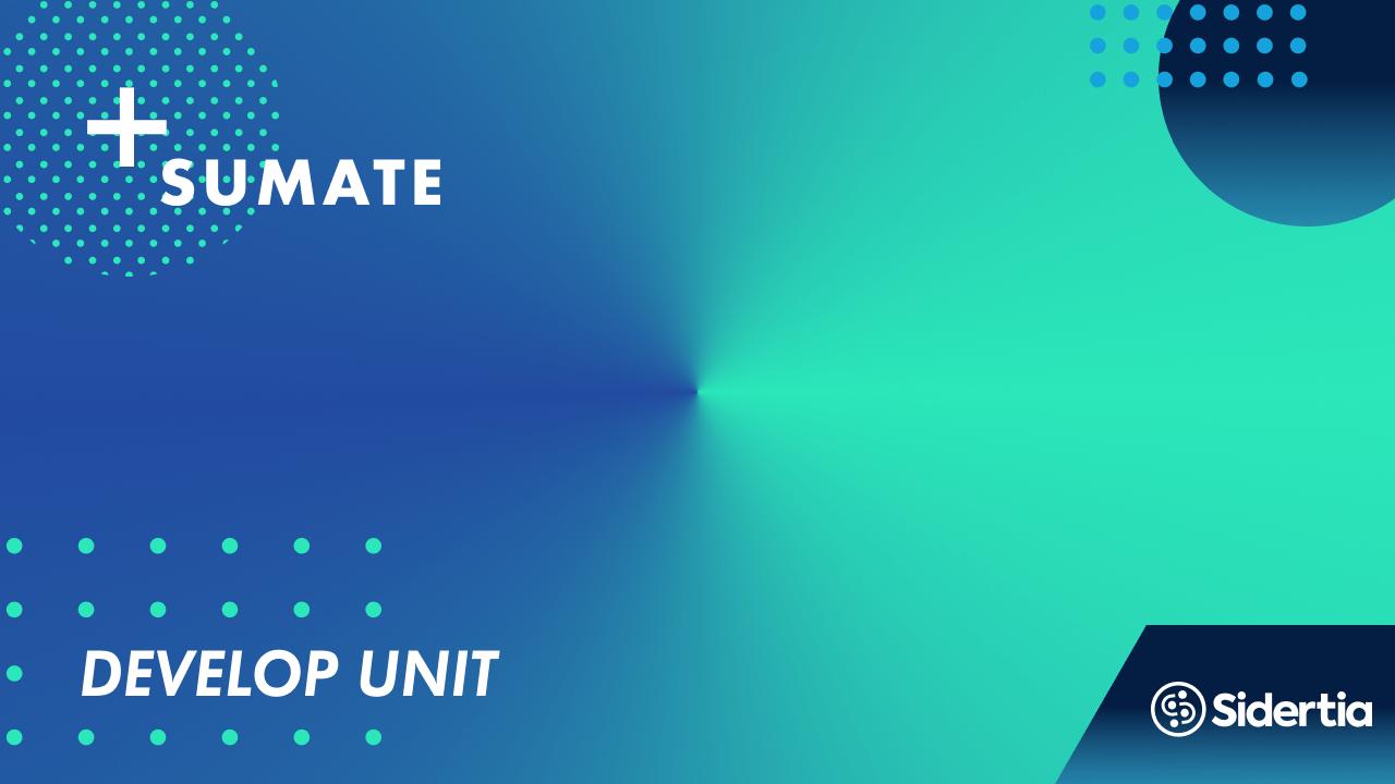Develop unit
